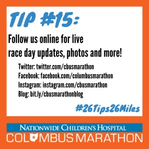 Tip 15 - Follow on race day