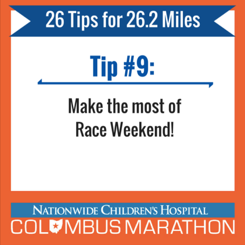 Tip 9 - Race Weekend