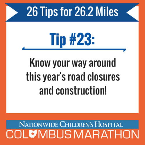 Tip 23 - road closures